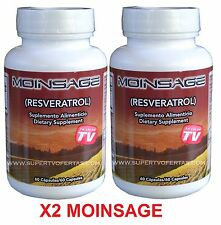 2 fcos  MOINSAGE 60 CAPS ORIGINAL 100% NATURAL