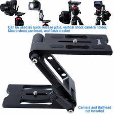 All-metal Z-Folding Ball Head Quick Release Plate Camera Holder Flash Bracket