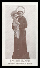 "santino-holy card""S.ANTONIO DA PADOVA-FOGGIA"
