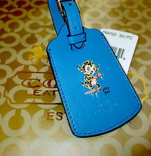 NWT Coach Gary Baseman Buster Le Fauve Luggage Tag Blue 64723 SOLD OUT