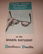 Old 1950's S.P. Railroad - SHASTA DAYLIGHT Train Brochure Portland Oakland S.F.