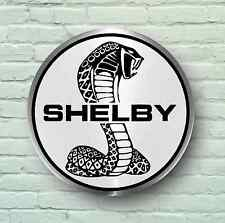 SHELBY COBRA BADGE LOGO 2FT LARGE GARAGE SIGN WALL USA BRITISH CLASSIC CAR