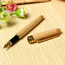 Simple Wooden Smooth Fountain Pen Personal Birthday Business Office Stationery