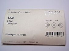 1,440 PIECES SWAROVSKI CRYSTAL BEADS #5328 2.5MM BICONE- OLIVINE - FACTORY PACK
