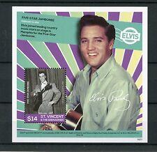 St Vincent & Grenadines 2016 MNH Elvis Presley His Life in Stamps 1v S/S IV