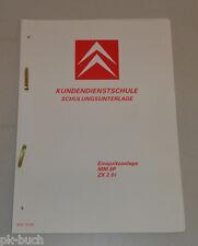Schulungsunterlage Kundendienstschule Citroen ZX 2.0i Einspritzanlage MM8P 1992