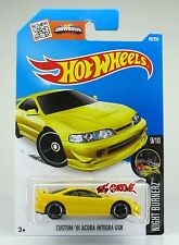 Hot Wheels 2016 #89 Custom '01 Acura Integra GSR YELLOW,NEW MODEL,1ST COLOR,INTL