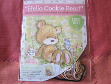 BNIOP COOKIE BEAR CROSS STITCH CARD KIT
