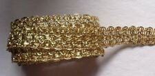 Metallic Braid, 3/4 inch wide gold color price for 1 yard