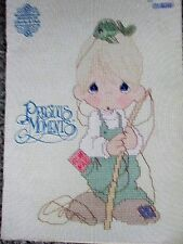 VINTAGE 1990 PRECIOUS MOMENTS COUNTED CROSS STITCH PATTERN BOOK FIRST PRINTING