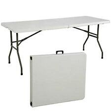 Folding Table 6' Portable Plastic Indoor Outdoor Picnic Party Dining Camp T