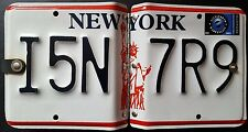 NEW, NEW YORK NUMBER PLATE CD / DVD & BLUE - RAY HOLDER, FREE COLLECTION . . .