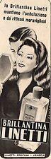 Pubblicità vintage brillantina Linetti capelli Venezia old advert reklame A1