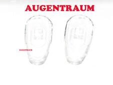 NASENPADS aus GLAS 15mm Allergiefrei Nasenpad Pad schraub 1Paar Brille NEU