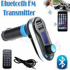 KIT Auto MP3 LETTORE MUSICALE WIRELESS BLUETHOOT FM Trasmettitore Radio con USB+R Remote
