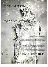 MASSIVE ATTACK 100th Window UK magazine ADVERT / mini Poster 11x8""