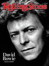 DAVID BOWIE Rolling Stone Magazine Tribute. Feb 11, 2016. New.
