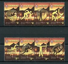 Tonga 2016 MNH Summer Olympics Rio 8v Set 2 Strips Swimming Taekwondo Stamps