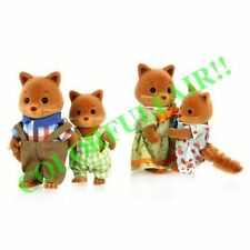 VILLAGE STORY! Fox family 4pcs