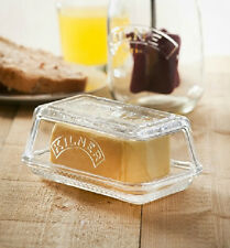 Kilner Glass Butter Dish with Lid Embossed Kilner Logo - NEW FROM KILNER
