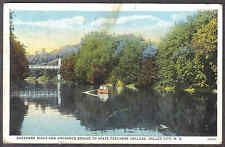 SHEYENNE RIVER STATE TEACHERS COLLEGE VALLEY CITY ND TR4 RAIL MAIL 1928 POSTCARD