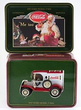 Ertl Coca-Cola 1913 Ford Model T Van 1:43 Christmas Edition 1994 New in Tin