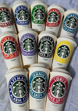 Personalized 16oz Starbucks Cup - Reusable - Any Color - Great Gift!
