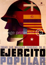 Ejercito Popular WW2 Spanish Civil War Vintage Poster 18x24