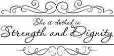 Bible Verse Wall Decal Proverbs 31  Made in USA