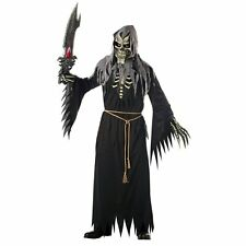 Angel of Death Grim Reaper Mens Halloween Fancy Dress Up Party Costume One Size