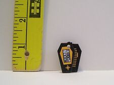 New MATTEL GENUINE MONSTER HIGH DOLL GOTH GOLD SLIDE COFFIN PHONE ACCESSORY