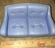 Barbie Mattel 1998 Blue Sofa Couch Love Seat Living Family Room Furniture