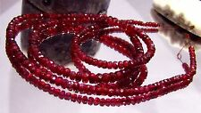 """RARE GEM GRADE NATURAL FACETED RUBY RED SPINEL BEADS STRAND 52ctw 17.75"""""""