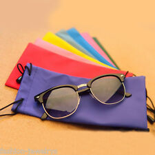 1X Random Color Microfiber Phone Sunglasses Eyeglasses Pouch Bag Soft Clean Case