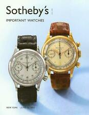 Sotheby's ||  Important Watches Patek Post Auction Catalog 2007