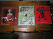 Lot of 3 Large Softcover Books – TO BE A PRINCESS Heidi THE WORLD OF OZ
