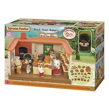 Sylvanian Families Brick Oven Bakery Playset NEW Over 50 Pieces With Figure