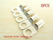 5PCS SC25-8 Tinned Copper Lug Battery Cable Connector Terminal 4 Gauge