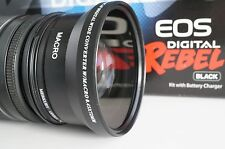 72mm Wide Angle Macro Lens For Canon Eos Digital Rebel t5i sl1 70d 5d 7d 18-200