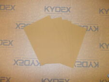 7 pieces KYDEX T SHEET 297 X 210 X 1.5MM A4 SIZE (P-1 HAIRCELL COYOTE BROWN )