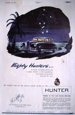 1955 SINGER 'Hunter 75' Motor Car ADVERT - Vintage Auto Print AD Original