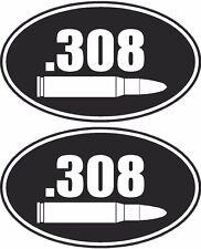 ".308 Ammo Can Decal Oval SET 3""x1.8"" Ammunition Box Gun Sticker 308"