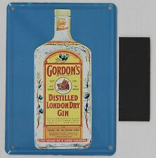 Collectable Tin Card Sign Magnet 3x4 Gordon's Distilled London Dry Gin