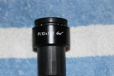 Zeiss Microscope Eyepiece PL 10x /20 w/ Diopter ring 30mm tube