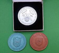 3 Stk. Medaillen SDAG Wismut 1974/76/76 ADMV