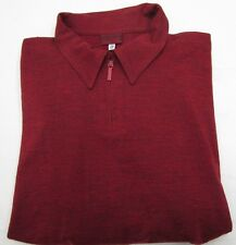 VERSUS Gianni Versace Made in Italy Burnt Red Wool Zipper Placket Sweater 52