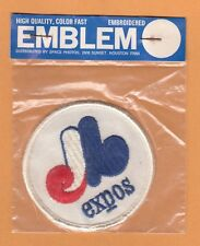 VINTAGE 1970s MONTREAL EXPOS OLD LOGO 3 inch PATCH UNSOLD STOCK Still Packaged