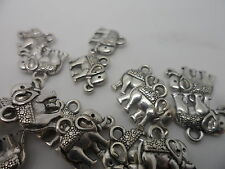 20 Elephant Charms~antique silver~Double Sided 12x14mm~Card making Scrapbooking