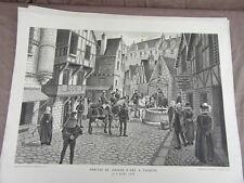 affiche ECOLE SCOLAIRE 1955/60 signée ALFRED CARLIER HISTOIRE CIVILISATION 16/22