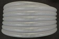 "3/4"" x 100' - Flexible PVC Water Suction & Discharge Hose - Clear w/White Helix"